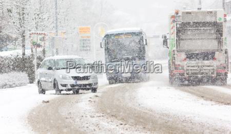 el caos de la nieve