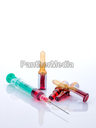 syringe with glass ampoules