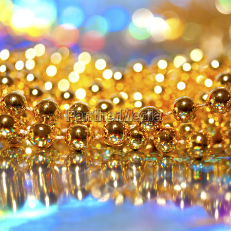 beads on abstract background