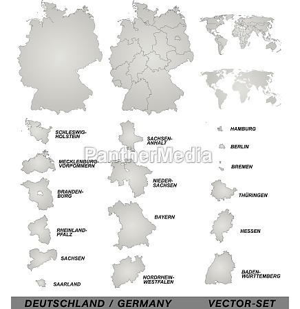 mapa fronterizo de alemania con bordes