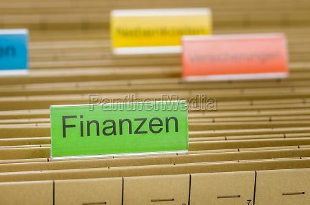 mapeo colgante con el subtitulo finanzas