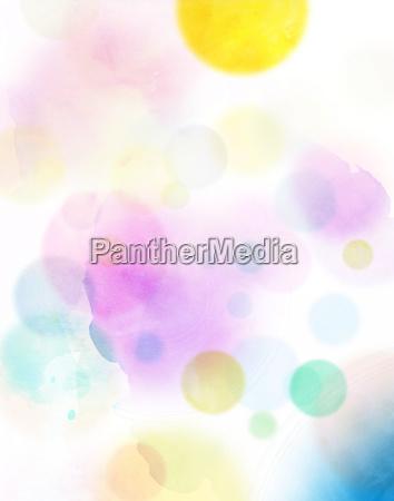 acuarela circulos abstractos coloridos