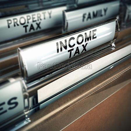 income tax taxes concept