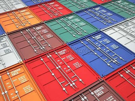 industrial contenedor envio a los contenedores