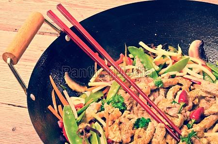estilo vintage de wok de china