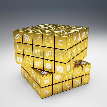iconos dorados