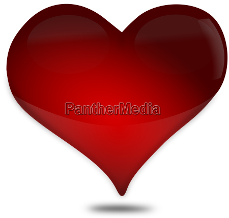 red heart made of glass icon