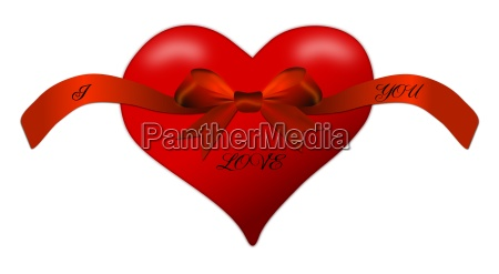 heart for valentines day with red