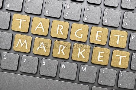 mercado objetivo en el teclado