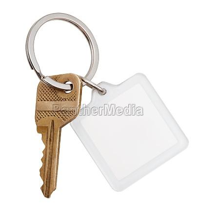 llave de laton casera y llavero