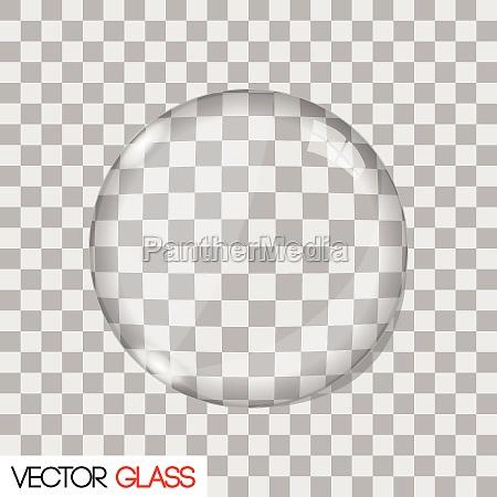 lente de vidrio ilustracion vectorial