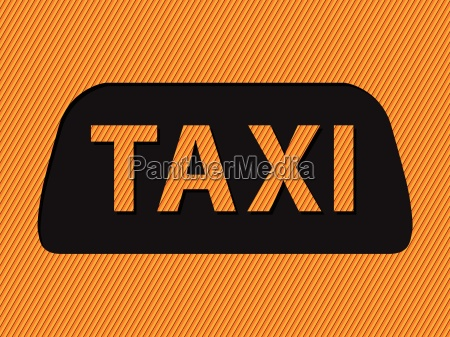 abstract taxi sign and text