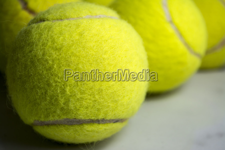 tennis balls close up