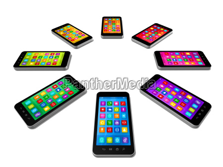 smartphones colors set