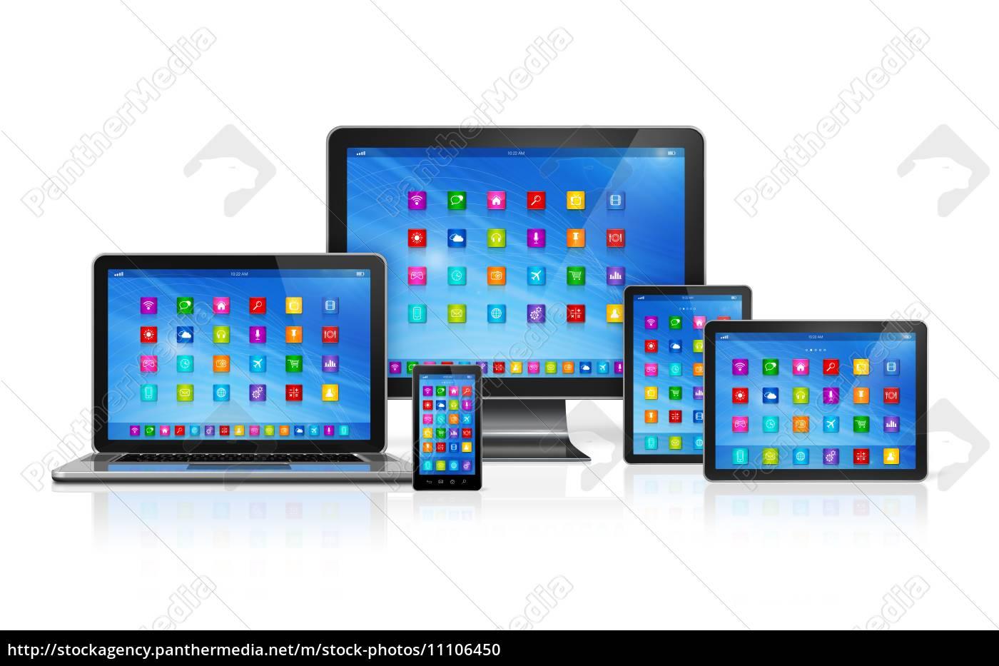dispositivos, computer, set - 11106450