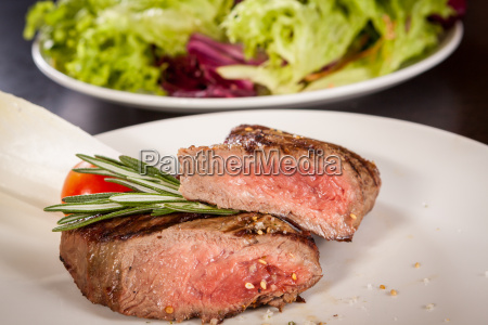 medium roasted beef steak fillet with