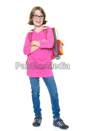 girl with satchel