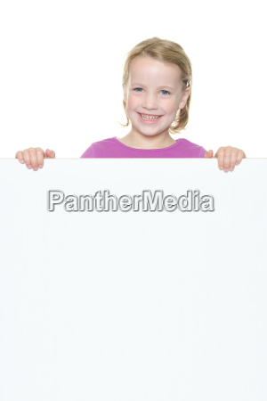 girl with advertising sign