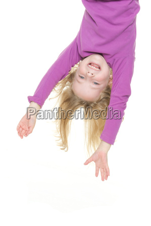 girl dangling