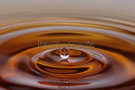 circulo flotante gotas de agua gota