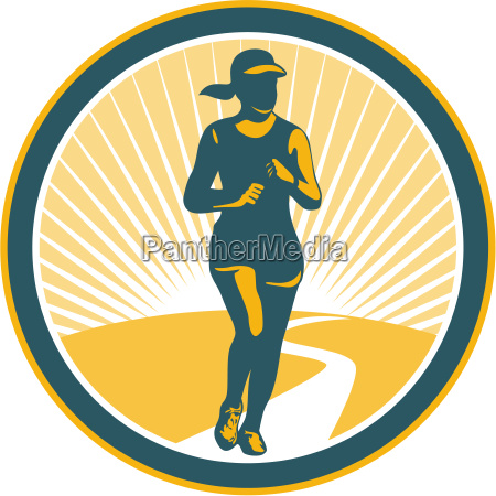 mujer graficos femenino ilustracion jogging ejercicio