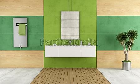 banyo verde contemporaneo