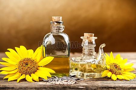 botella de aceite de dos