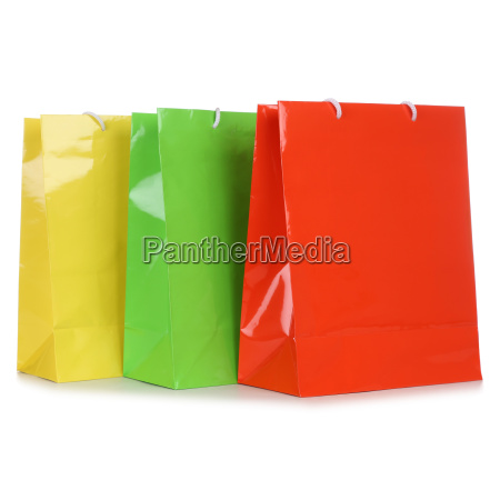 colorful shopping bags or shopping bags