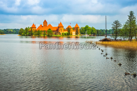 lituania palacio medieval fuerte marca viejo