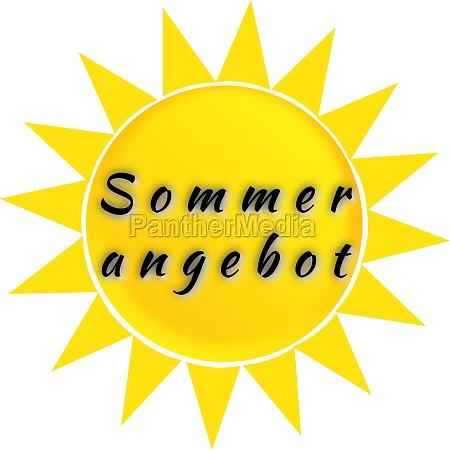 inscription summer sale on the sun