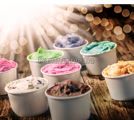 selection of colorful tubs of ice