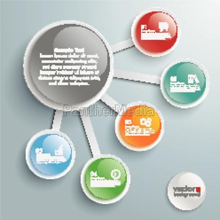 infografia grandes y pequenyos 5 botones