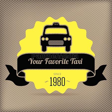 insignia de taxi para las promociones