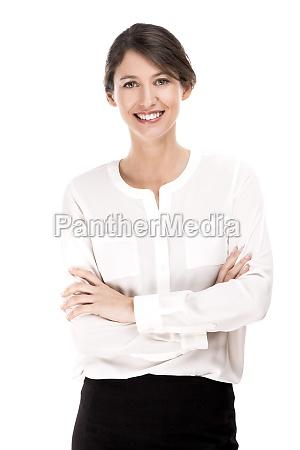 mujer de negocios causal