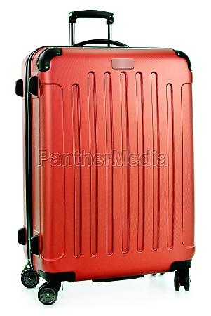 maleta plastica aislada en blanco