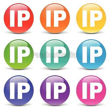 vector ip address icons