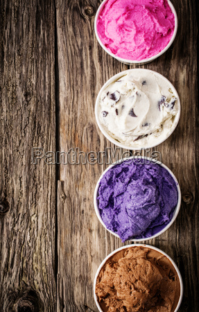 colorful selection of italian ice cream