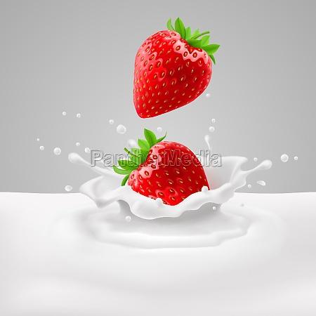 fresas con leche