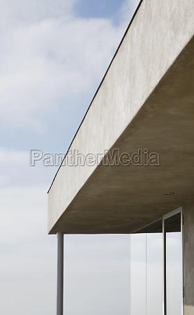 roofline of modern home