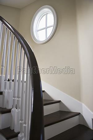 detail hardwood staircase