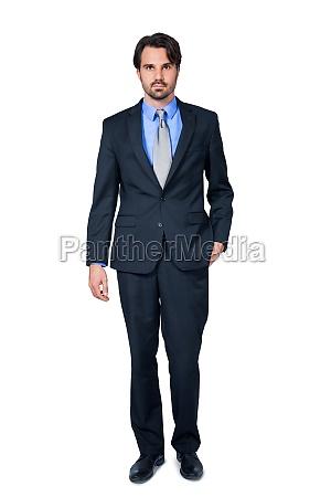 hombre de negocios joven seguro de