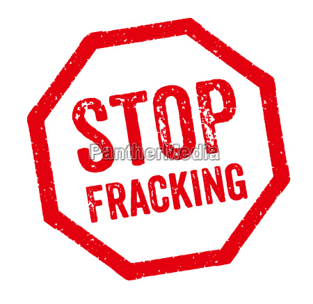 red stamp stop fracking