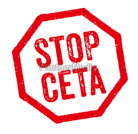 sello, rojo, -, stop, ceta - 11683432
