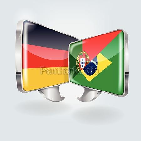 discurso en aleman portugues y brasilenyo