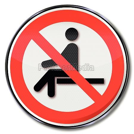 prohibicion signo sentado