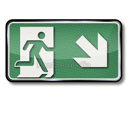 senyales de rescate con ruta de