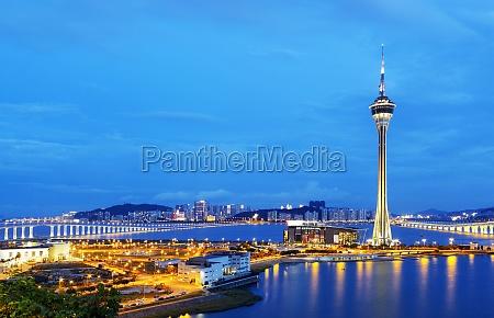 torre asia noche urbano paisaje naturaleza