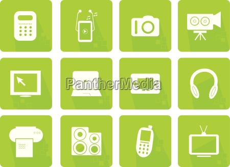 icons set of modern electronic objects
