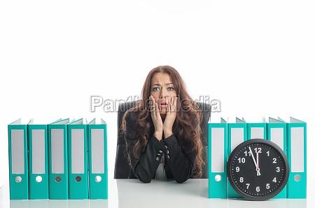 businesswoman under time pressure