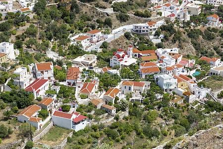 el pueblo aperi en karpathos grecia